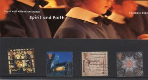 2000 Spirit and Faitth (Christmas) Presentation Pack Number 317